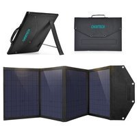 Choetech Foldable Solar Charger 100W 2x USB / 1x USB Type C Power Delivery Quick Charge black (SC009)