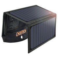 Choetech Foldable Solar Charger 19W 2x USB 2,4A black (SC001)