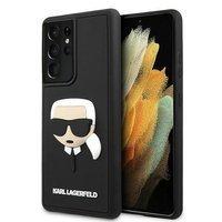 Karl Lagerfeld KLHCS21LKH3DBK S21 Ultra G998 black / black hardcase 3D Rubber Karl`s Head