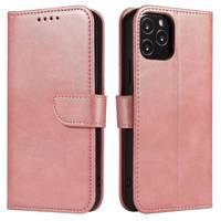 Magnet Case elegant bookcase type case with kickstand for LG K62 / K52 / K42 pink