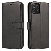 Magnet Case elegant bookcase type case with kickstand for Realme X50 5G black