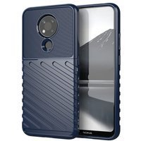 Thunder Case Flexible Tough Rugged Cover TPU Case for Nokia 3.4 blue