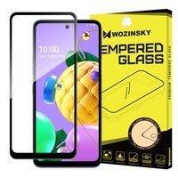 Wozinsky Tempered Glass Full Glue Super Tough Screen Protector Full Coveraged with Frame Case Friendly for LG K62 / K52 / K42 black