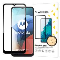 Wozinsky Tempered Glass Full Glue Super Tough Screen Protector Full Coveraged with Frame Case Friendly for Motorola Moto E7 black