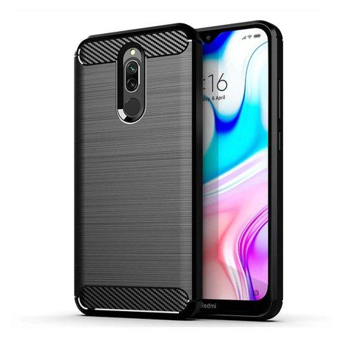 Carbon Case Flexible Cover TPU Case for Xiaomi Redmi 8 black