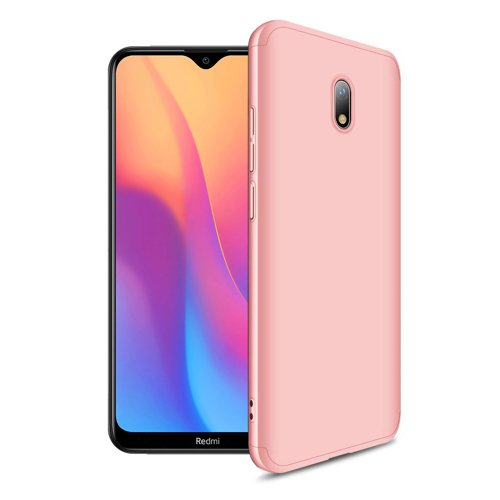 GKK 360 Protection Case Front and Back Case Full Body Cover Xiaomi Redmi 8A pink