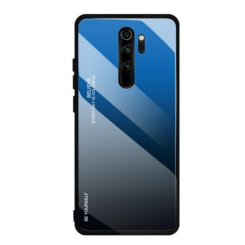 Gradient Glass Durable Cover with Tempered Glass Back Xiaomi Redmi Note 8 Pro black-blue