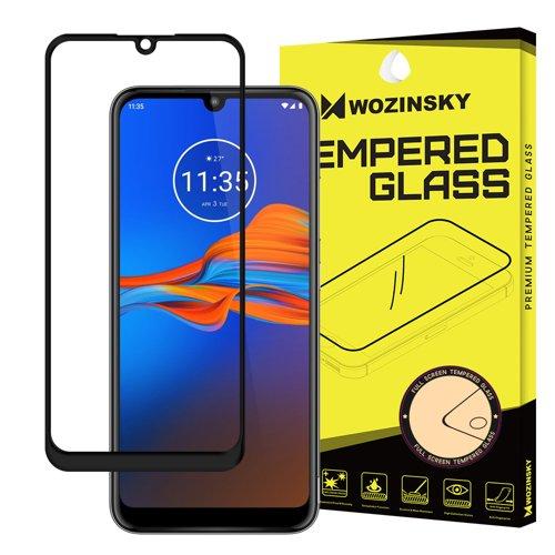 Wozinsky Tempered Glass Full Glue Super Tough Screen Protector Full Coveraged with Frame Case Friendly for Motorola Moto E6 Plus transparent