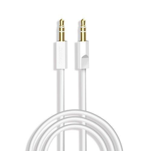Dudao AUX mini jack 3.5mm cable 1m 3-pole stereo white (L12S white)