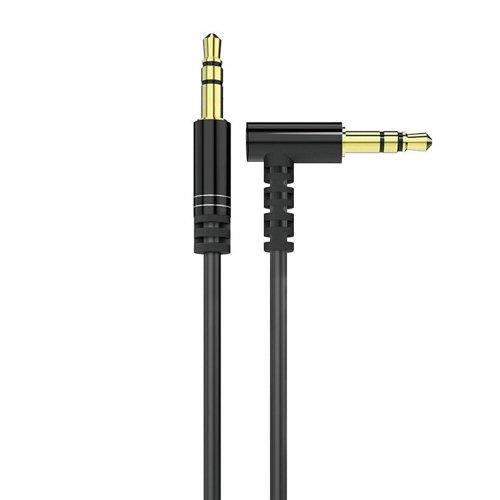 Dudao angled cable AUX mini jack 3.5mm 1m cable black (L11 black)