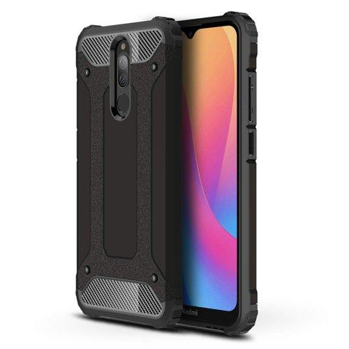Hybrid Armor Case Tough Rugged Cover for Xiaomi Redmi 8A black