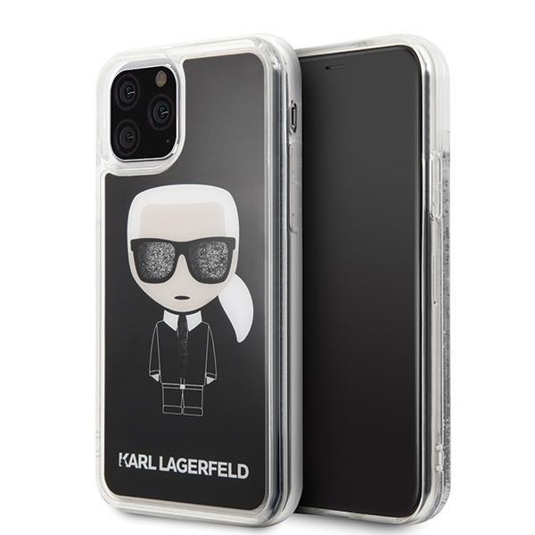 Karl Lagerfeld KLHCN58ICGBK iPhone 11 Pro czarny/black Iconic Glitter