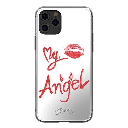 Kingxbar Angel mirror case decorated with original Swarovski crystals iPhone 11 Pro Max transparent