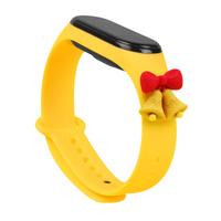 Strap Xmas Wristband für Xiaomi Mi Band 4 / Mi Band 3 Christmas Silikonband Armband Gelb (Glocken)