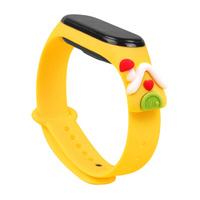 Strap Xmas Wristband für Xiaomi Mi Band 6 / Mi Band 5 Christmas Silikonband Armband Gelb (Haus)
