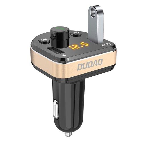 Dudao FM Transmitter Bluetooth Autoladegerät MP3 3.1 A 2x USB schwarz (R2Pro schwarz)
