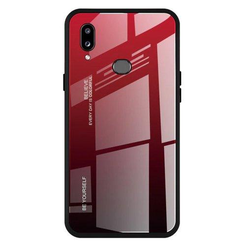 Gradient Glass Handyhülle Schutzhülle aus Panzerglas für Samsung Galaxy A20e schwarz-rot