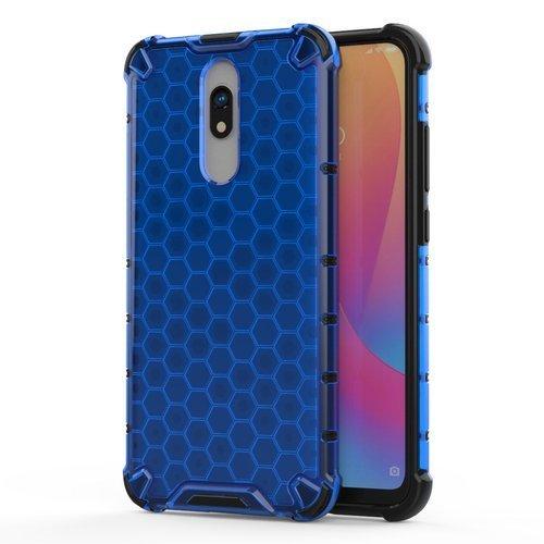 Honeycomb Handyhülle Schutzhülle mit TPU Rahmen für Xiaomi Redmi 8A / Xiaomi Redmi 8 blau