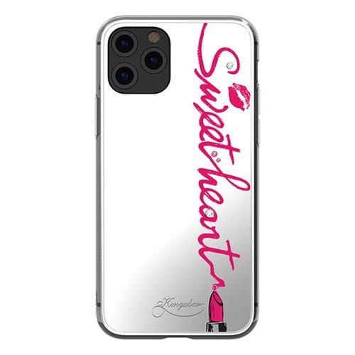 Kingxbar Angel Spiegeletui verziert mit original Swarovski Kristallen iPhone 11 Pro Max Spiegel transparent