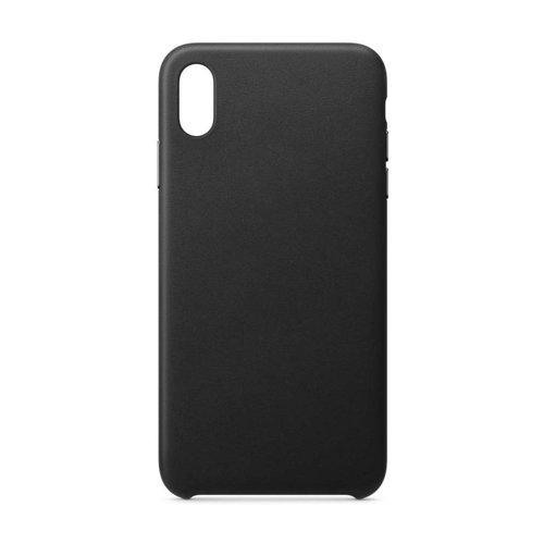 ECO Leather skórzane etui pokrowiec ze skóry ekologicznej iPhone XS Max czarny