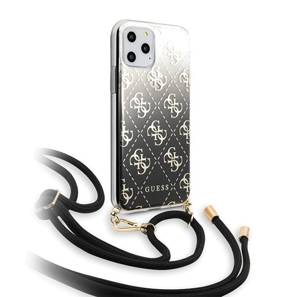 Guess GUHCN65WO4GBK iPhone 11 Pro Max czarny/black hard case 4G Gradient
